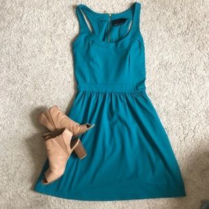 Cynthia Rowley Teal Fit and Flare Dress